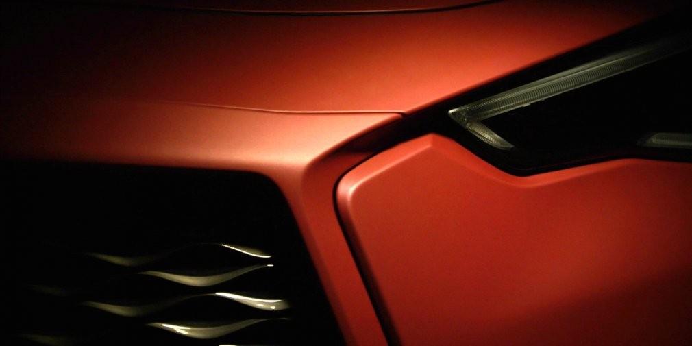 Инфинити обнародовала тизеры нового Q60 Red Alpha для тюнинг-шоу SEMA