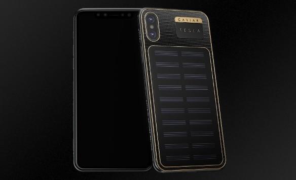 В России создан iPhone X Tesla, который заряжается от солнца