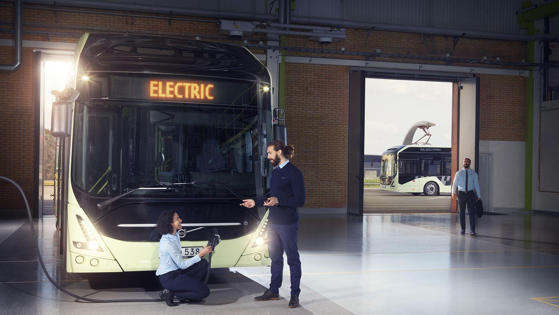 Вольво представила навсе 100% электрический автобус 7900 Electric
