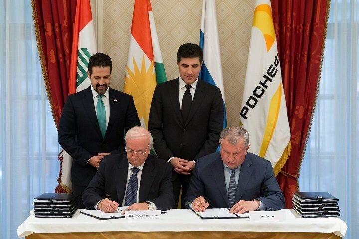 Курдистан получил от«Роснефти» $1 млрд аванса напогашение долгов