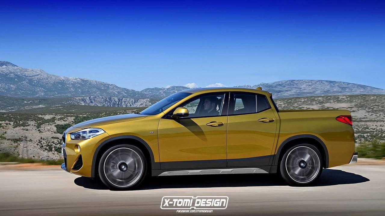 Дизайнерами представили новый БМВ X2 вкузовах кабриолет ипикап