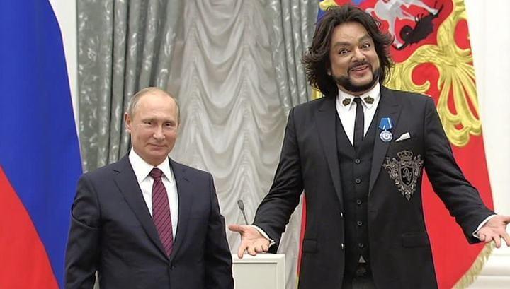 Киркоров объявил, что Путин слушает его песни «для настроения»