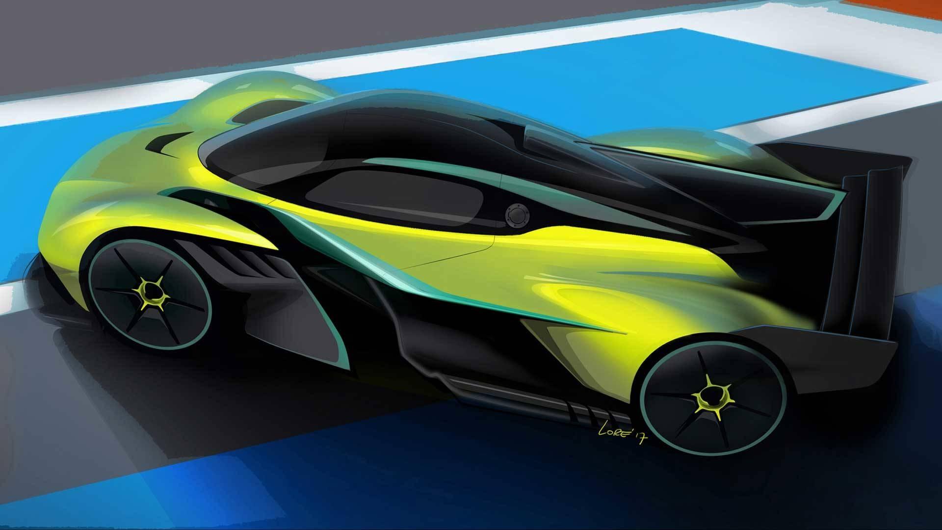 Астон Мартин представил гиперкар, имеющий характеристики болида Формулы-1