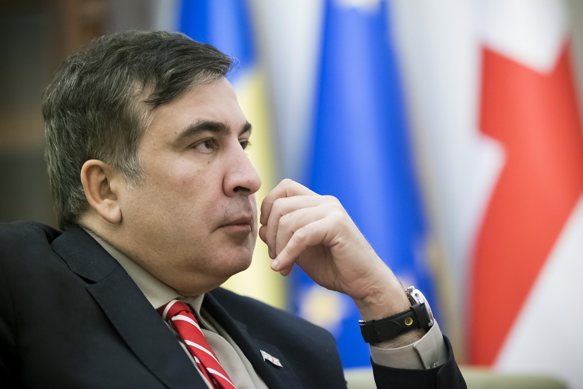 Саакашвили: Неизвестные побили моего водителя