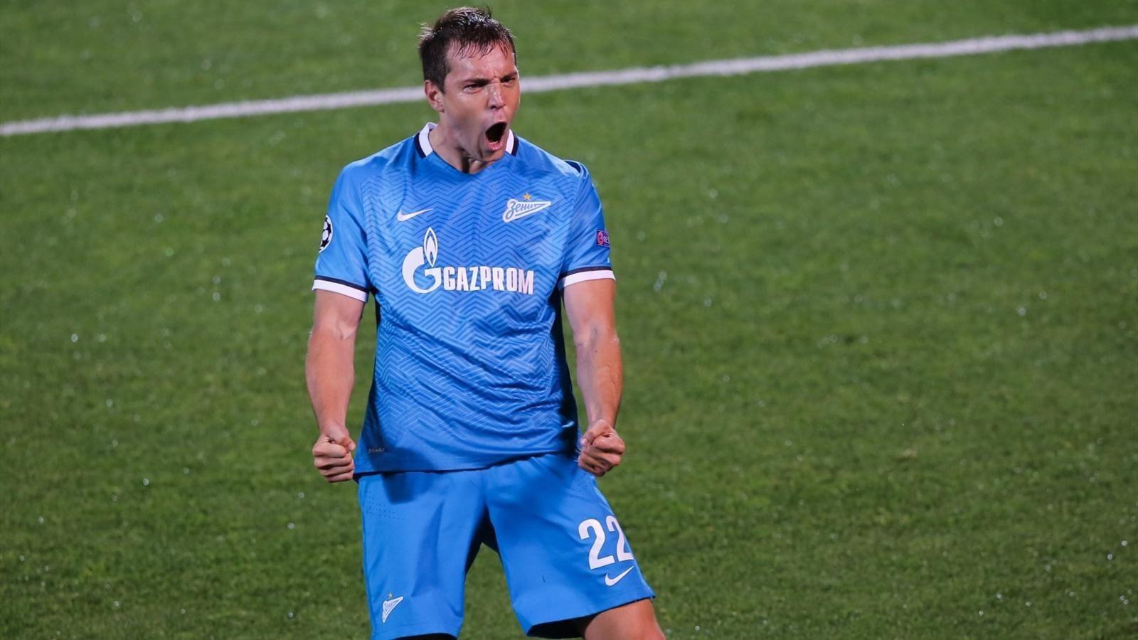 Дзюба провел 100-й матч за«Зенит»