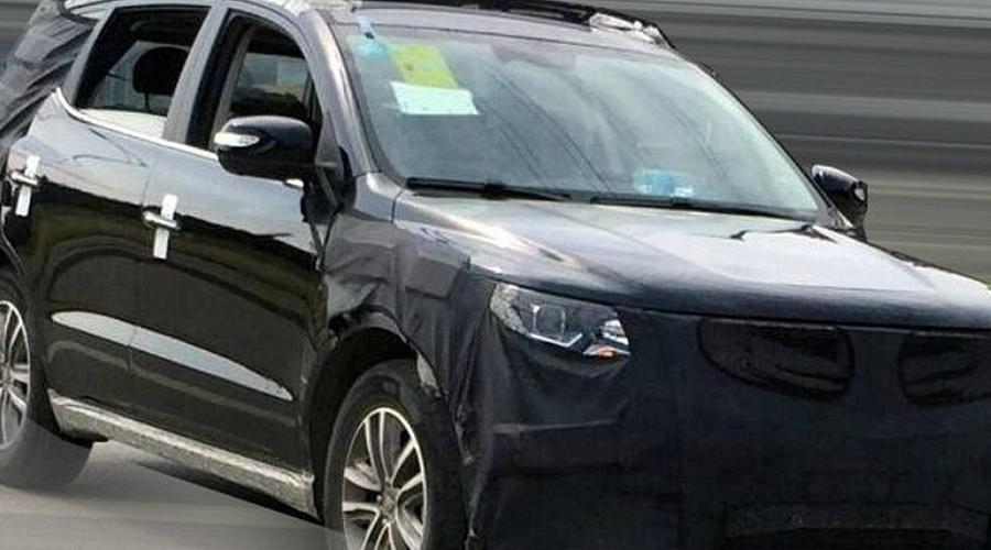 Кроссовер Geely Emgrand X7 нового поколения вывели на дорожные испытания