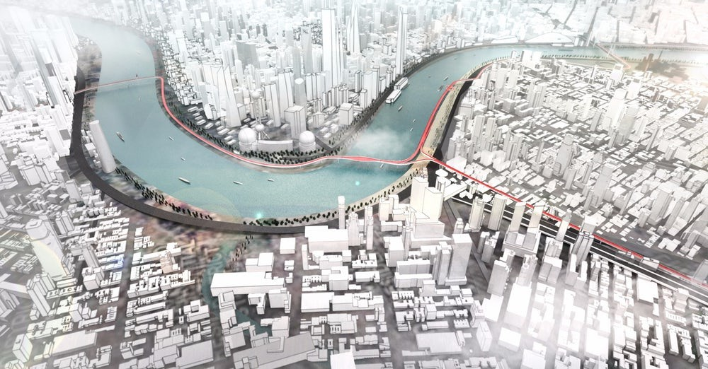 БМВ представила концепцию надземных дорог для электрического транспорта
