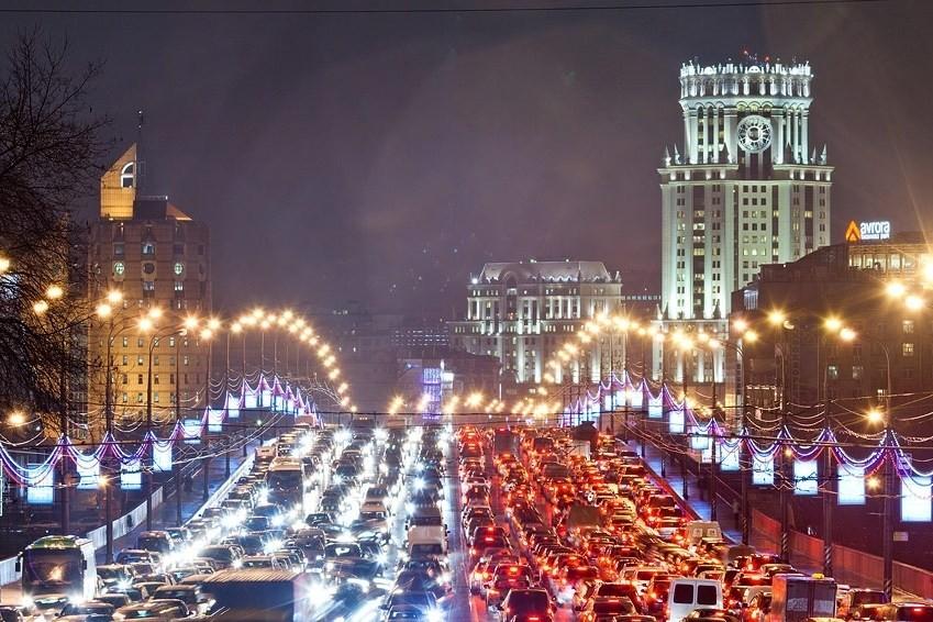 «Яндекс» исследовал загруженность дорог столицы  за5 лет