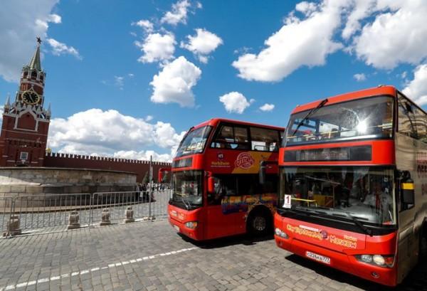 В центре Москвы открыли новые парковки для туристических автобусов