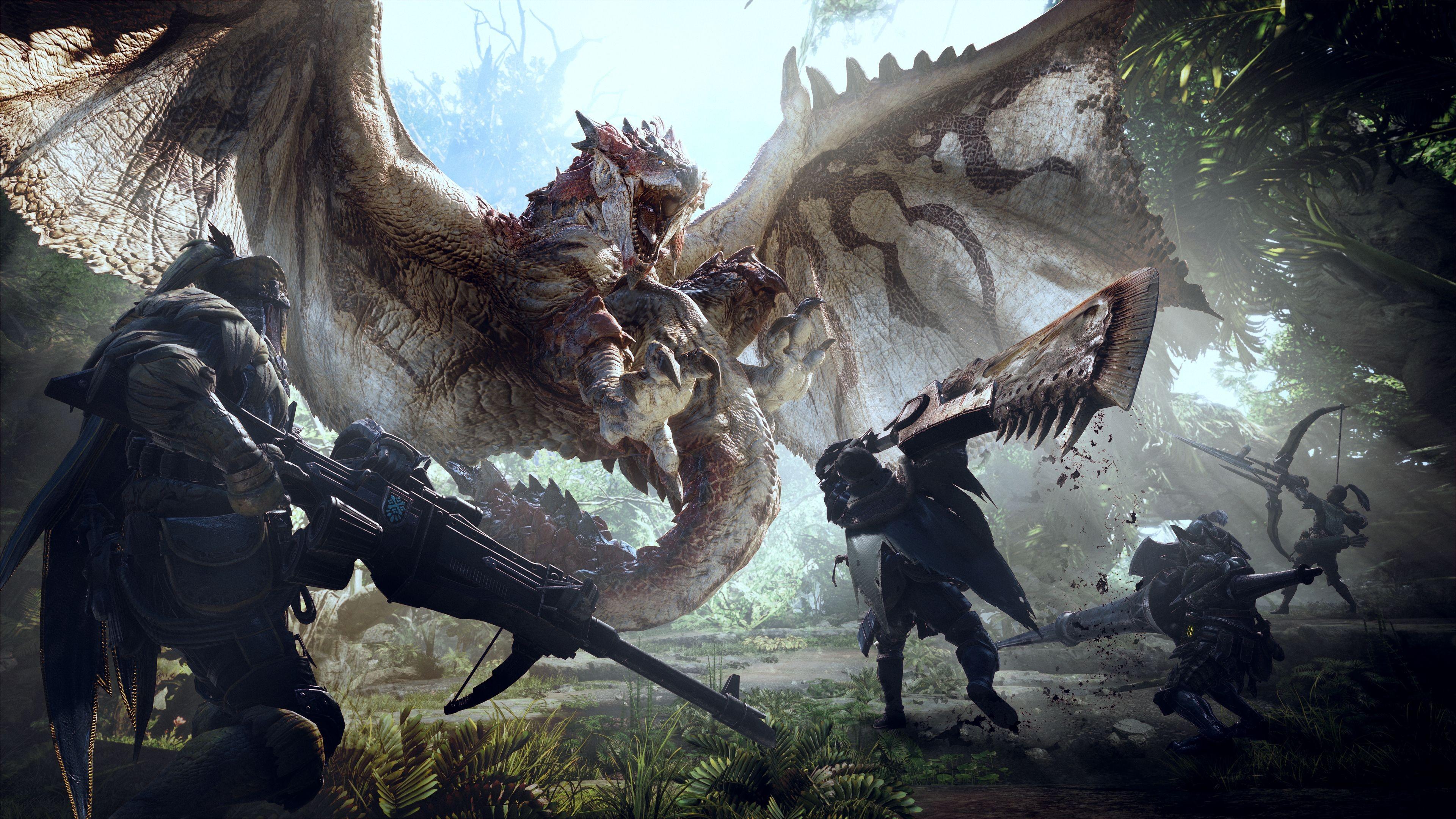Capcom выпустили 1-ый  геймплей-трейлер игры Monster Hunter World