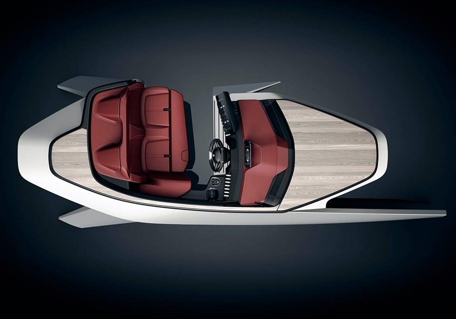 Компания Пежо представили дизайнерские разработки моторной лодки