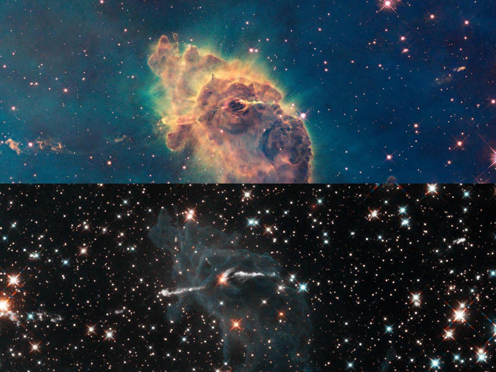 NASA выложило вСеть фотографии космической туманности всозвездии Карина