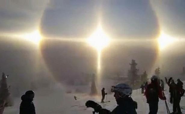 4 солнца изумили граждан Швеции