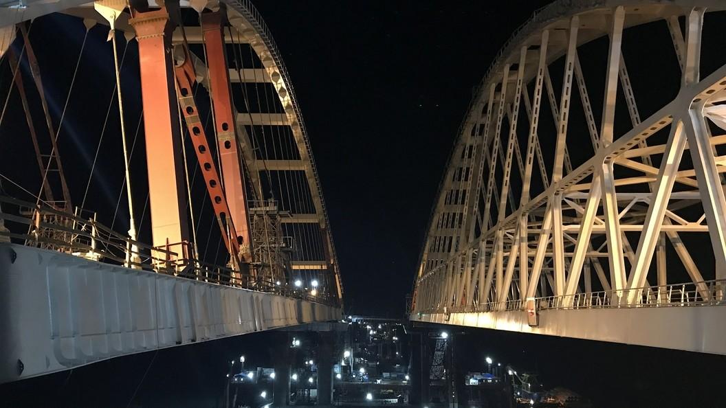 Пролеты Крымского моста соединили сарками