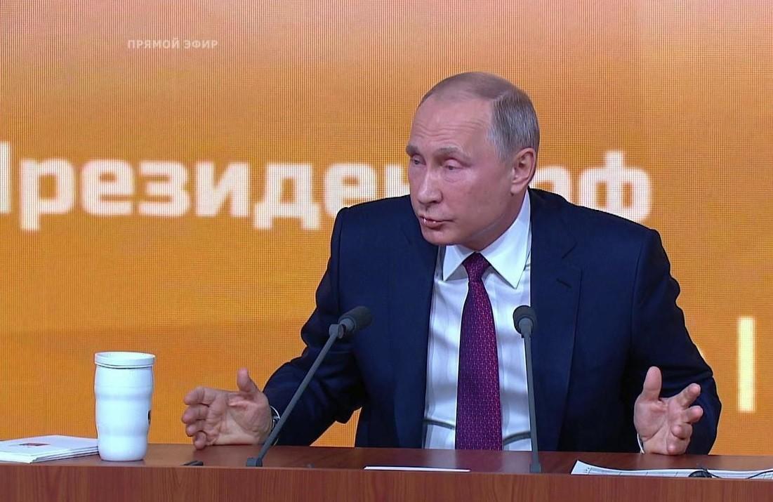 Журналистка— Путину: Унас сВами родился ребенок