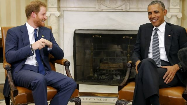Обама пошутил про акцент вовремя интервью принцу Гарри