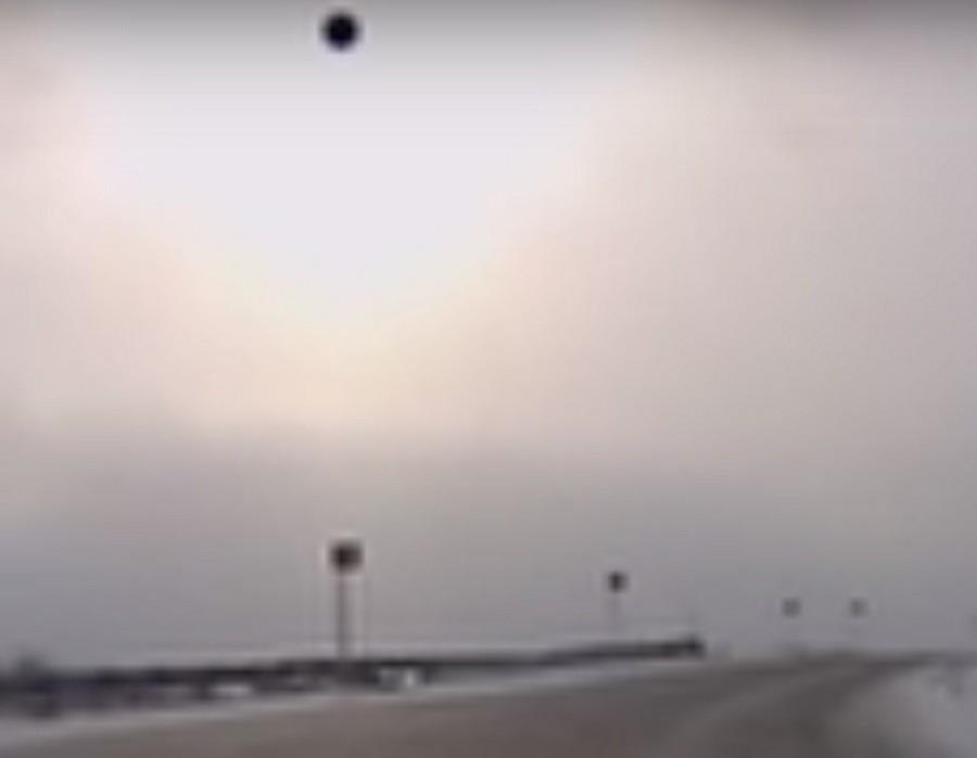 Натрассе под Кемерово шофёр снял навидео НЛО