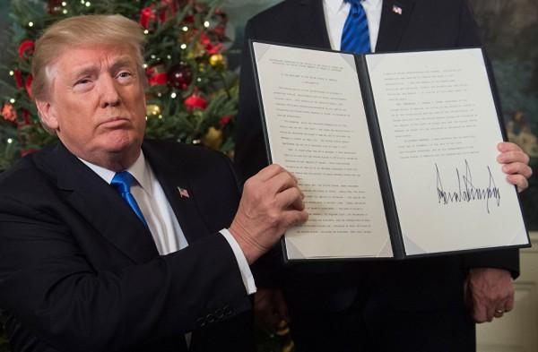 Трамп объяснил свое решение по Иерусалиму