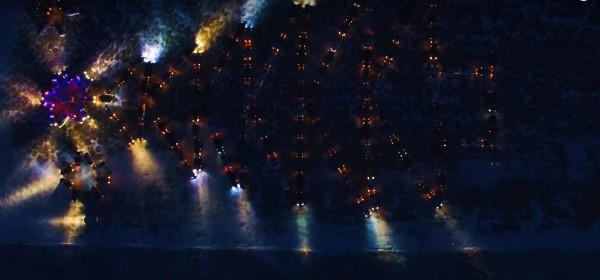 В аэродроме Каштак в Чите выстроили новогоднюю ёлку из 159 автомобилей