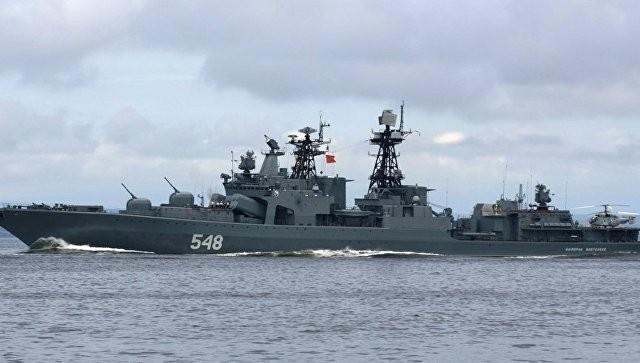 Отряд кораблей Тихоокеанского флота зашел сдружественным визитом вШанхай