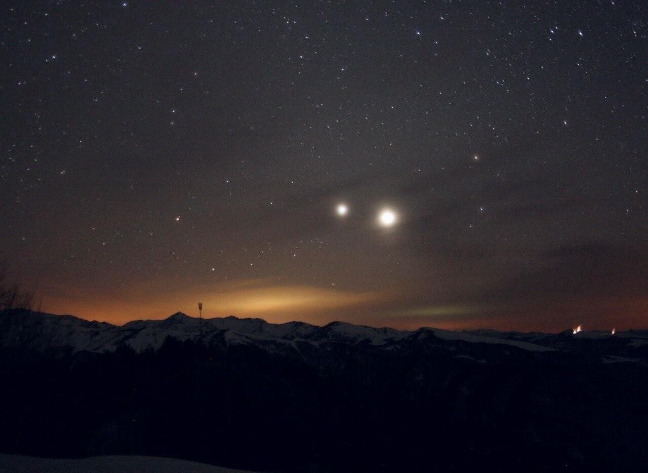 ВБашкирии здешние граждане увидят необычайное соединение Марса иЮпитера