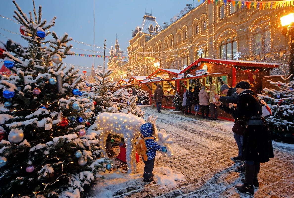 Рождественские видеоролики покажут вцентральной части Москвы