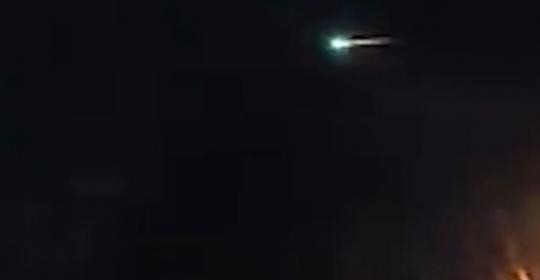 Граждане США и Англии могли видеть ярко-зеленый НЛО вновогоднюю ночь