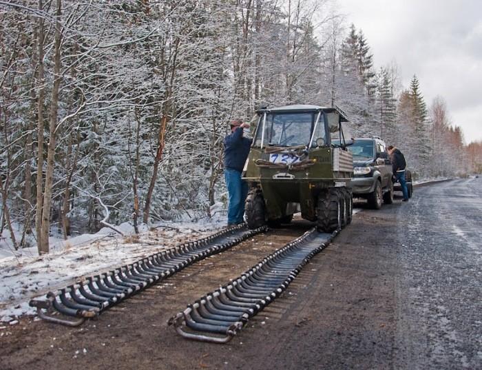 Гражданин  Карелии изпластиковых труб построил вездеход