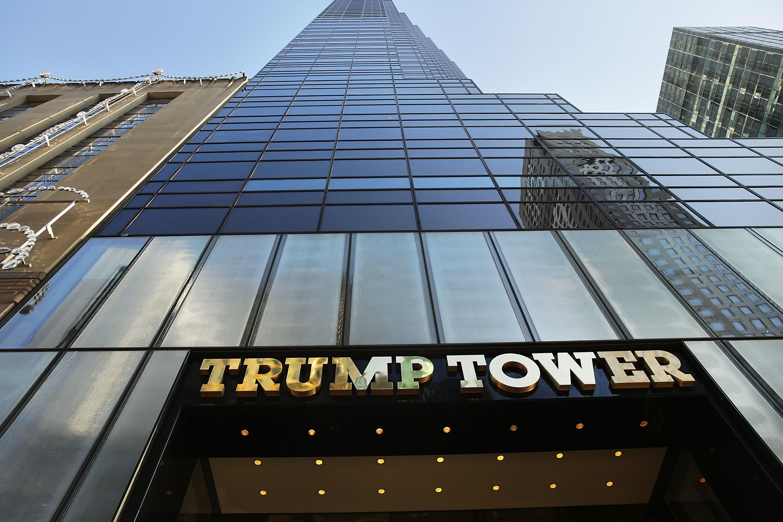 ВНью-Йорке зажегся небоскреб Трамп-тауэр