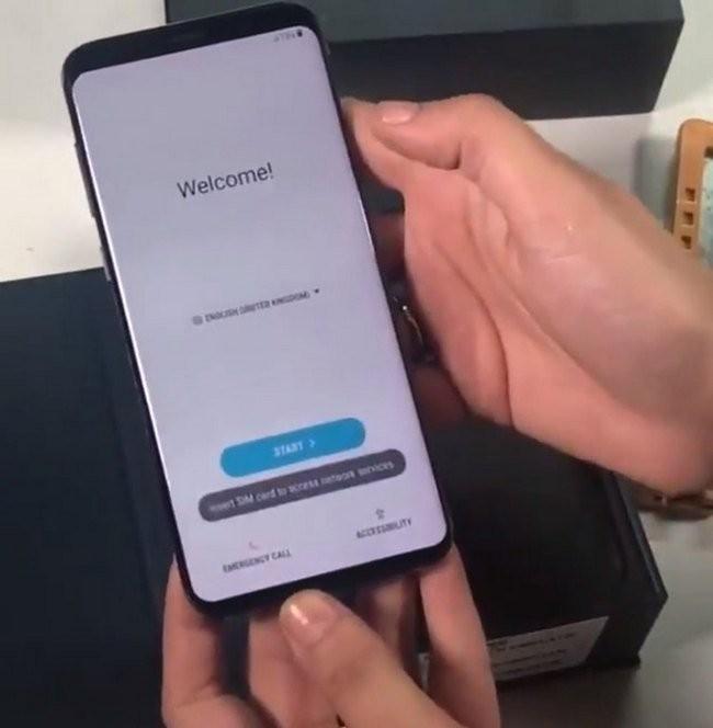 Винтернете  появилось фото работающего Самсунг  Galaxy S9