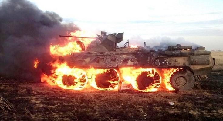 Российский солдат-срочник сжёг БТР при попытке разогреть обед (ВИДЕО)