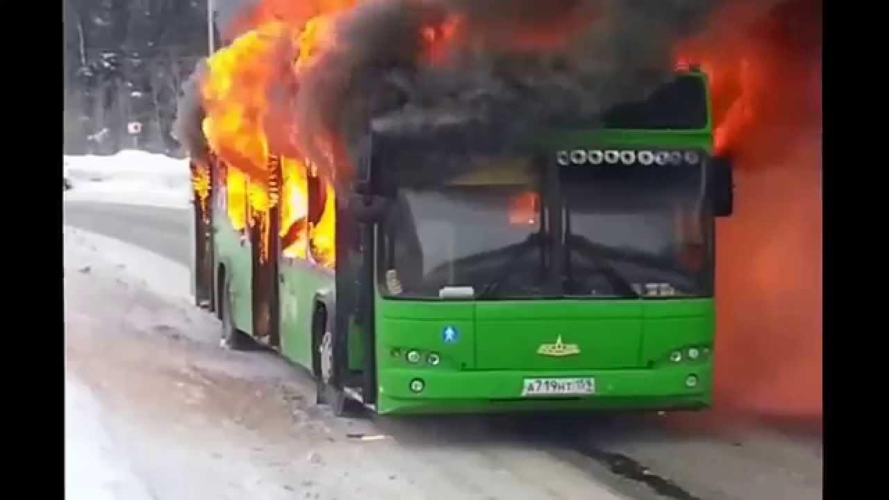 Власти Узбекистана назвали причины возгорания автобуса