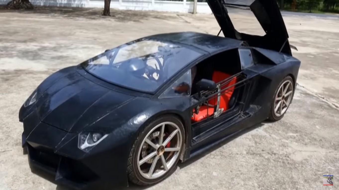 Китайский инженер шутки ради смастерил точную копию Lamborghini смотоциклетным агрегатом