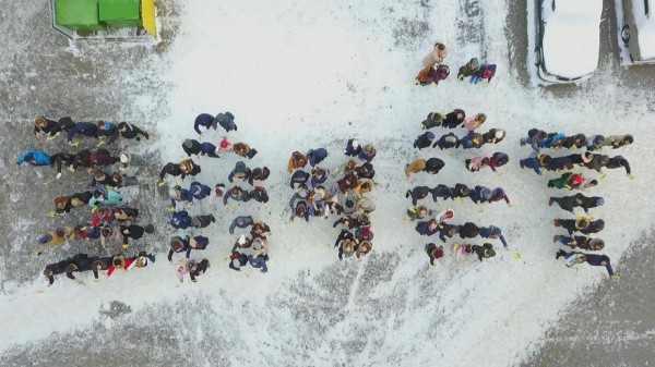 В честь дня студентов в РГГУ молодежь устроила флешмоб