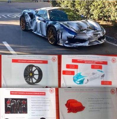 Ferrari выпустит суперкар с самым мощным мотором V8 в истории марки