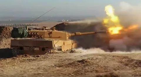 Курды подбили турецкий танк исняли это навидео