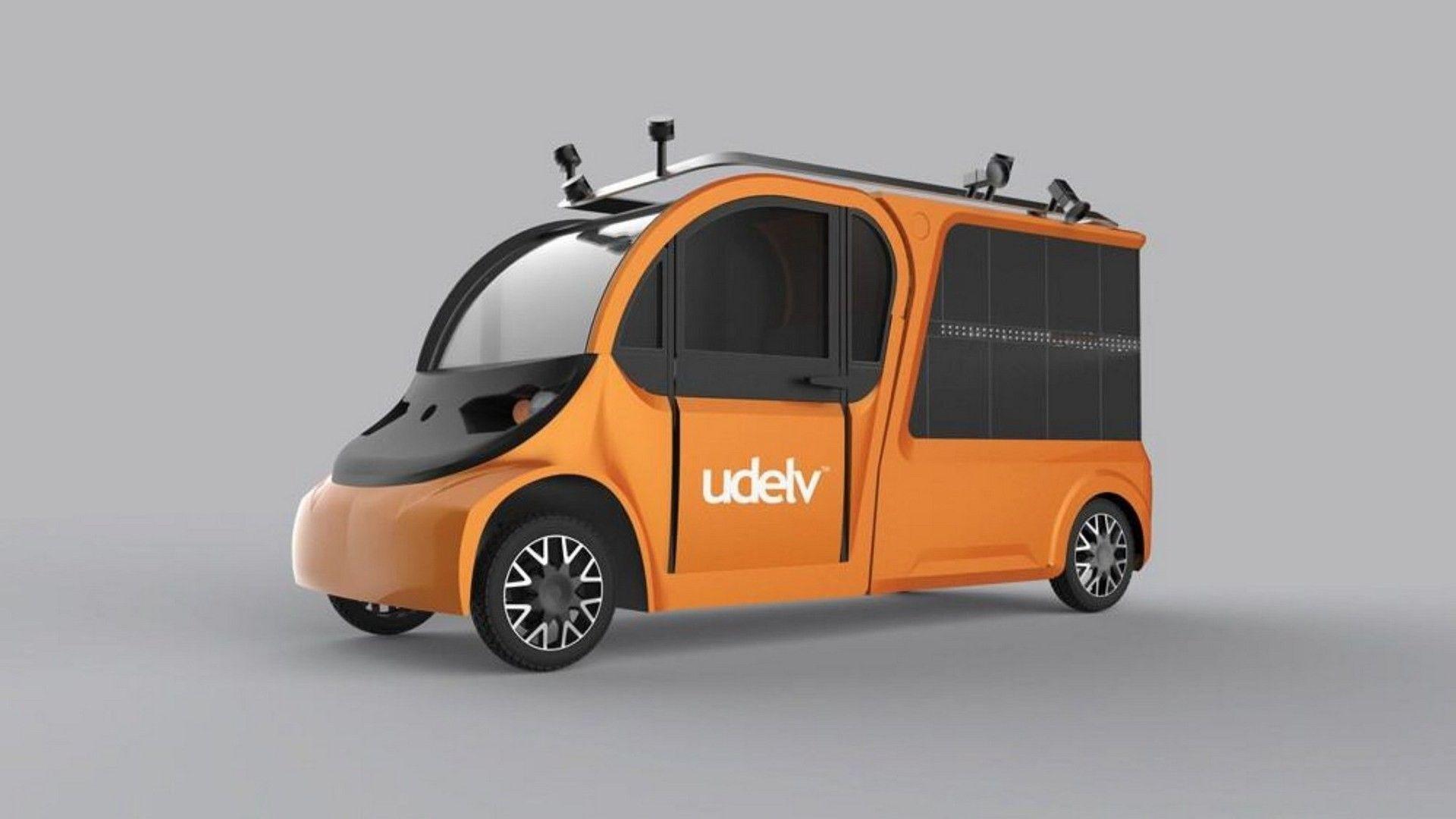 Компания Udelv представила беспилотный электрокар службы доставки