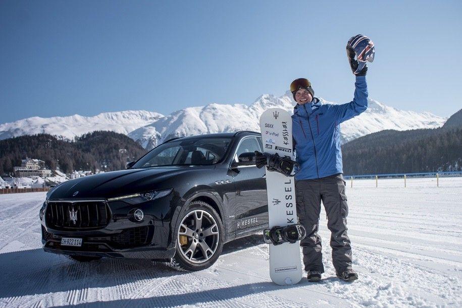 Кроссовер Мазерати Levante разогнал сноубордиста до152 километров вчас