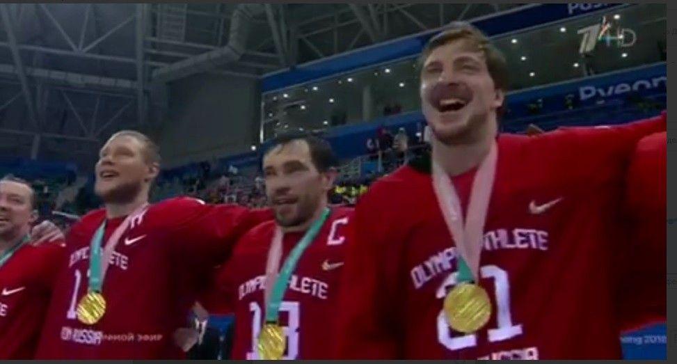 YouTube заблокировал видео, где русские хоккеисты поют гимн страны