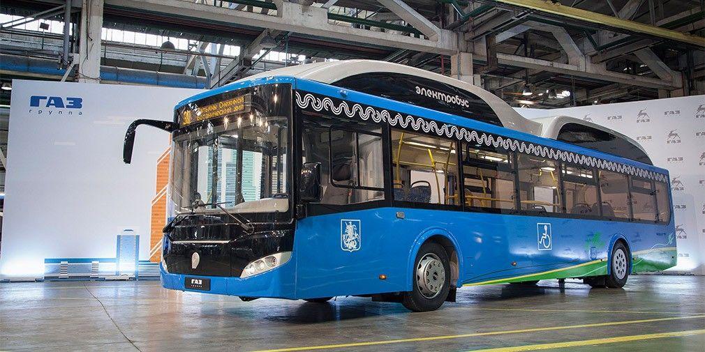 «ГАЗ» представила новый электробус сосверхбыстрой зарядкой class=