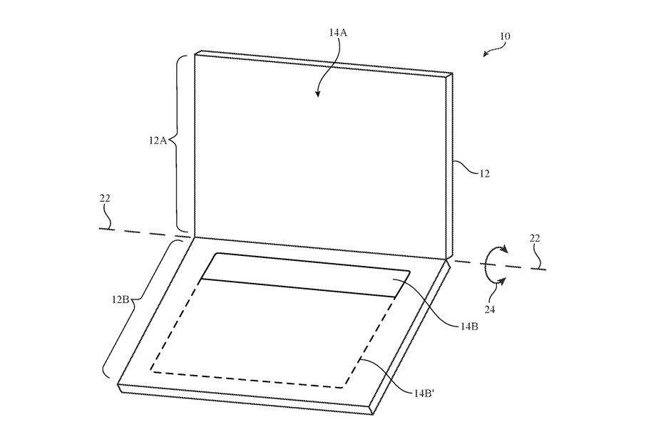 В Apple запатентовали новый ноутбук с дисплеем вместо стандартной клавиатуры