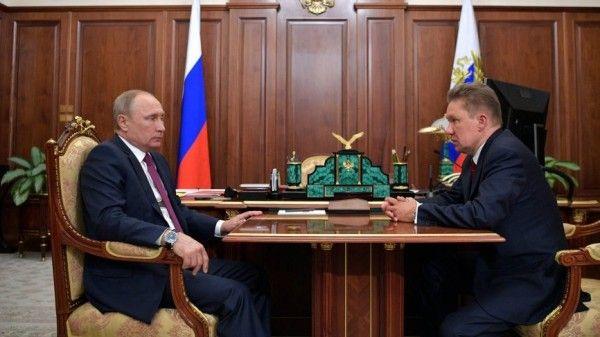 Миллер сообщил Путину об уровне газификации России