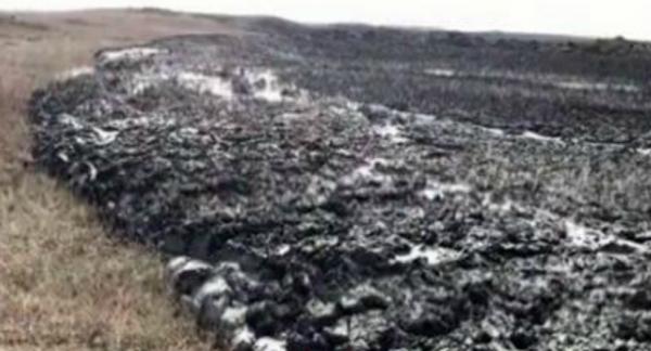 В Краснодарском крае произошло извержение грязевого вулкана