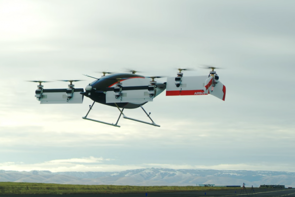 Airbus показал испытательный полет первого воздушного такси