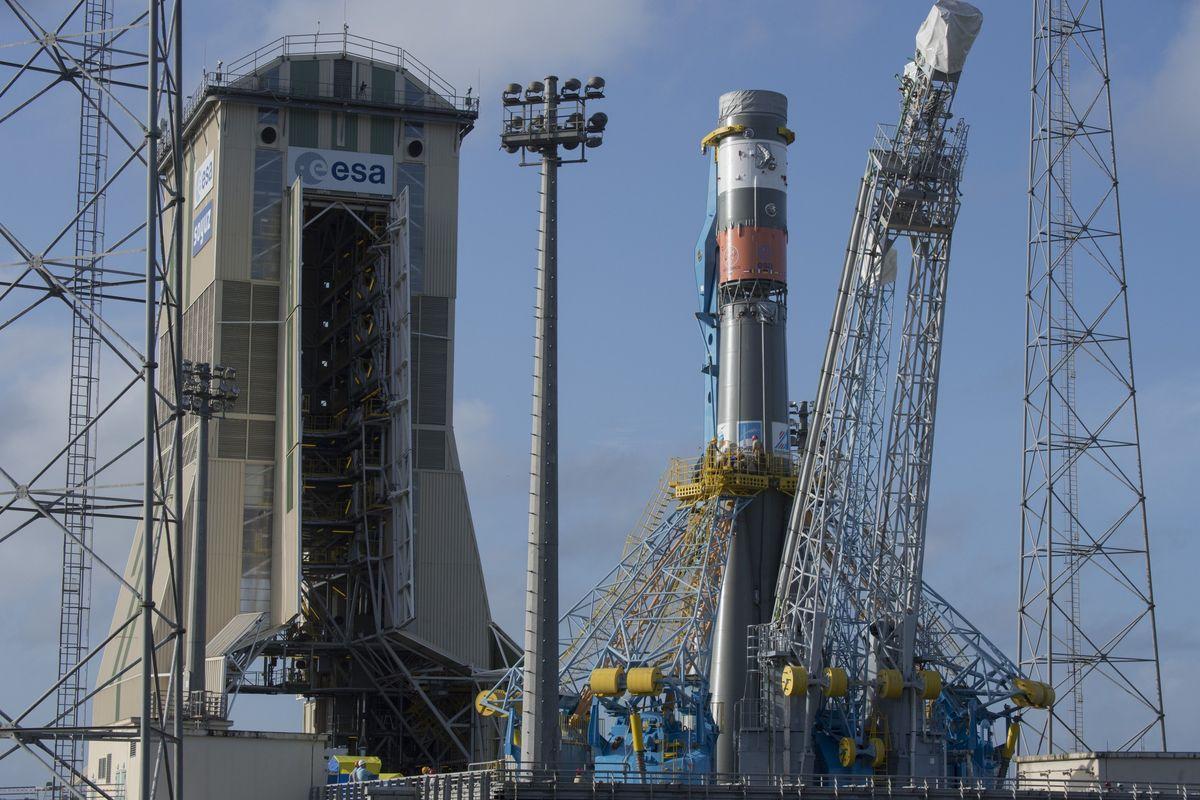 Русская ракета «Союз» удачно стартовала счетырьмя европейскими спутниками наборту