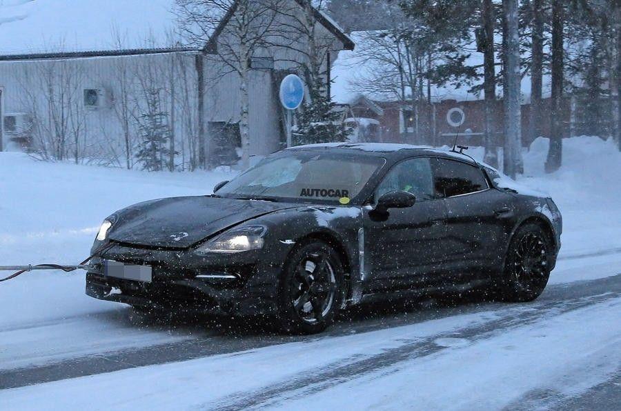 Испытания электрокара Porsche Mission Eпоказали навидео