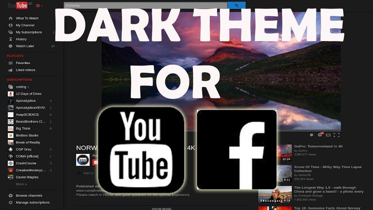 Мобильный YouTube получил темную цветовую тему