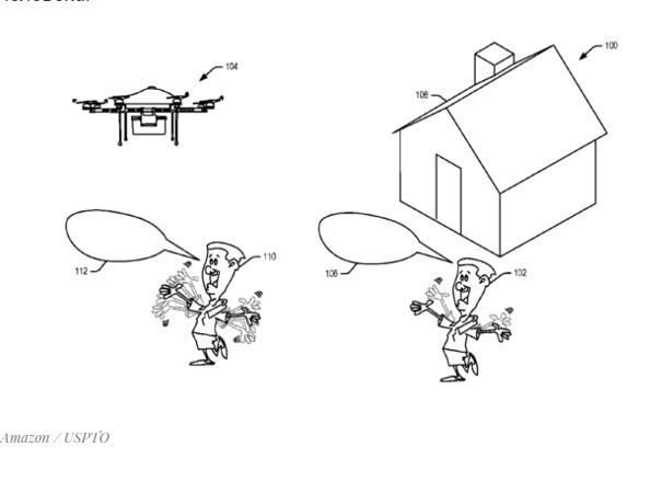 Amazon запатентовала дрон, который реагирует наголос ижесты