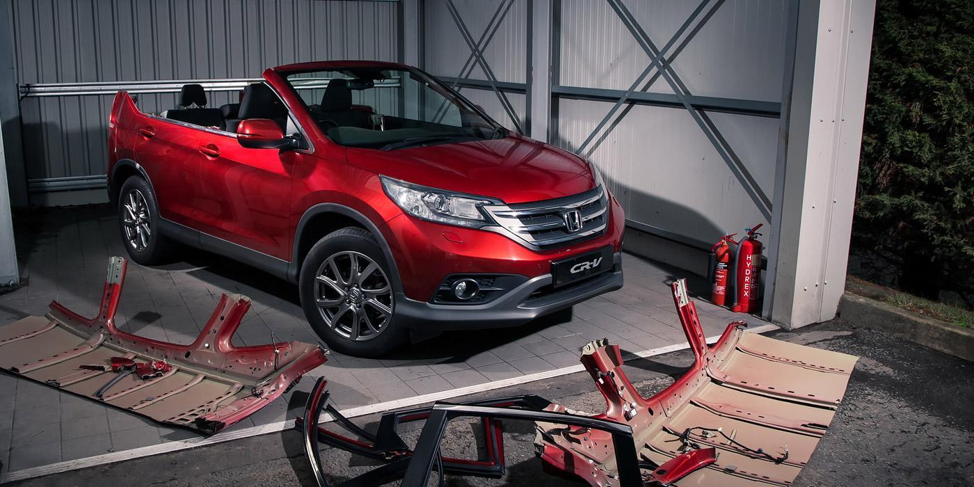 Хонда построила кабриолет CR-V вкачестве первоапрельской шутки