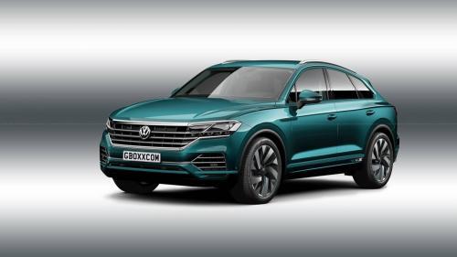 Кроссовер Volkswagen Touareg примерил стильный кузов купе